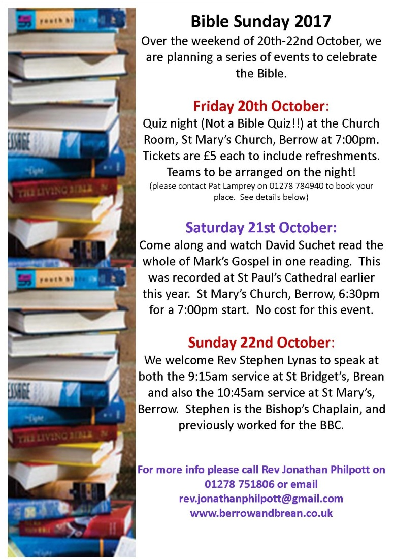 Bible Weekend Events