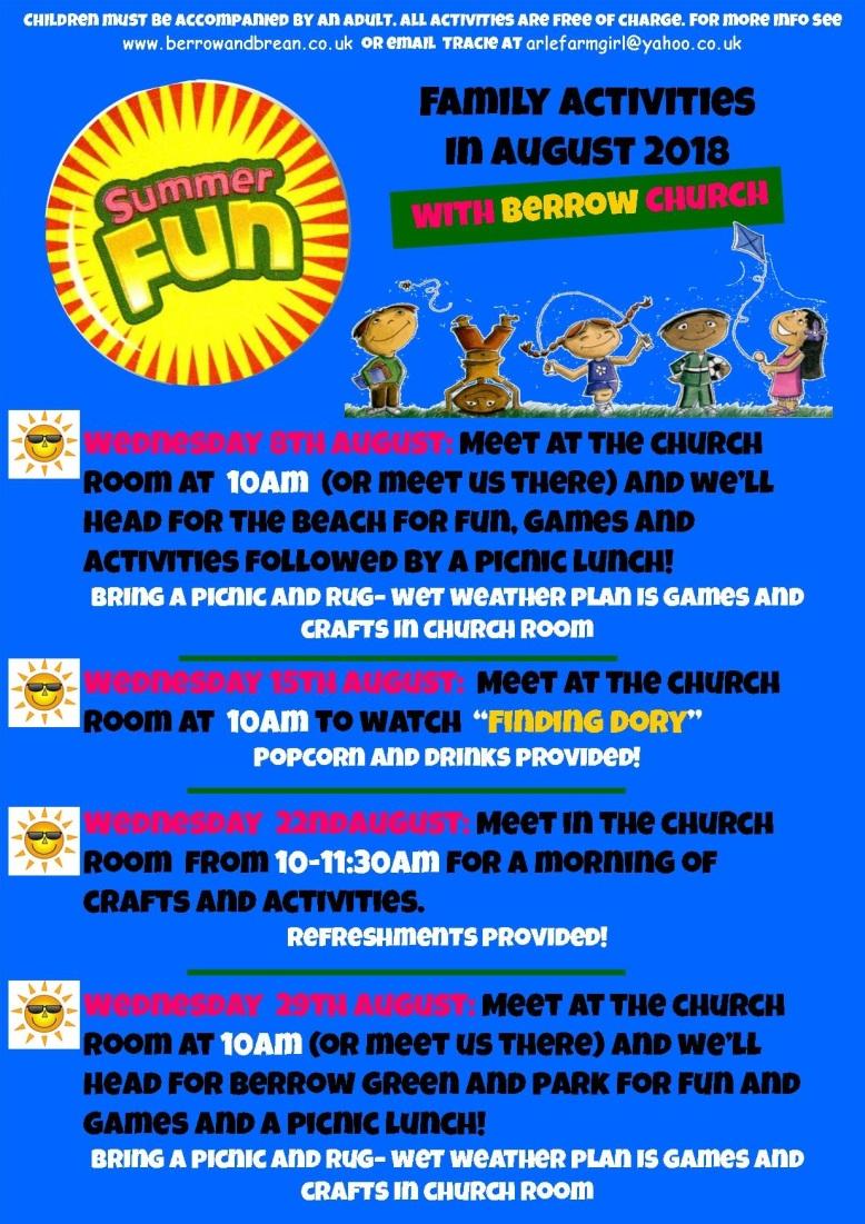 Summer activity poster