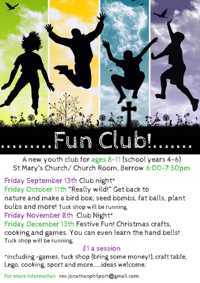 Fun Club Sept-Dec