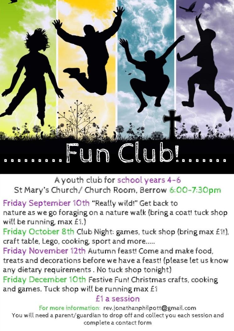 Fun Club Sept-Dec